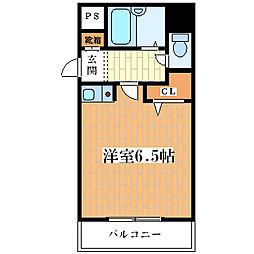 サンユタカマンション[406号室]の間取り