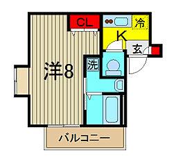 ペアドレン[3階]の間取り