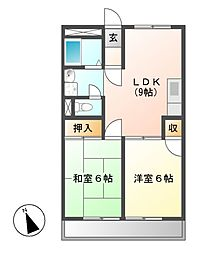 中町田ビル[2階]の間取り