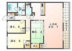 ローレルコート守口[3階]の間取り