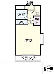 EXCEL COURT 5[4階]の間取り