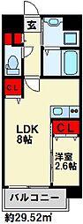 U's Residence 門司港オーシャンテラス 12階1LDKの間取り
