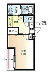 Osaka Metro今里筋線 瑞光四丁目駅 徒歩3分の賃貸アパート 1階1Kの間取り