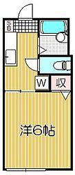 ヴァン・ベール・オカノ[2階]の間取り