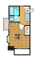 ラ・フォンテーヌ[4階]の間取り