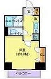JR中央線 国分寺駅 徒歩2分の賃貸マンション 2階1Kの間取り