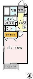 千葉県船橋市馬込町の賃貸アパートの間取り