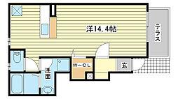 フリーデンC[1階]の間取り