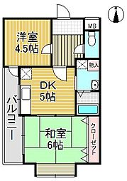 ハイム北夙川1[1階]の間取り