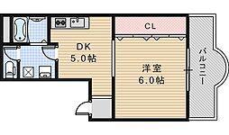クレインズマンションアベノ[201号室]の間取り