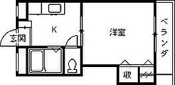 ロイヤルフォート今津[101号室]の間取り
