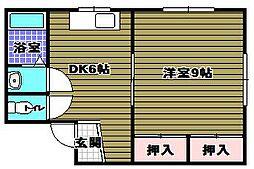 村田ハイツ[2階]の間取り