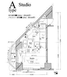 東京都千代田区三崎町3丁目の賃貸マンションの間取り