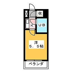 リブポート宇都宮[9階]の間取り