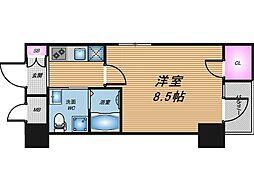 HS梅田EAST[4階]の間取り