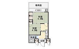 大阪府堺市西区浜寺元町3丁の賃貸マンションの間取り