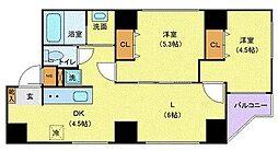 JR山手線 巣鴨駅 徒歩5分の賃貸マンション 10階2LDKの間取り