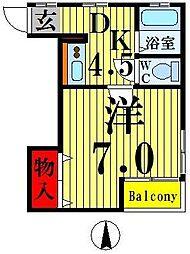 YMハイツ[2階]の間取り