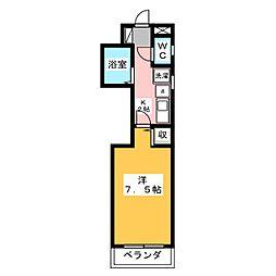 ラポール赤坂[3階]の間取り