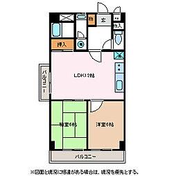 マイタウン松本[3階]の間取り