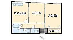 イマツアパートA棟[201号室]の間取り