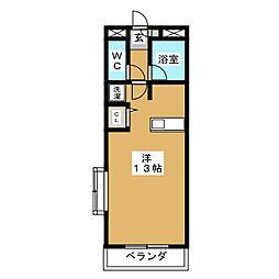 ユーロード747[3階]の間取り