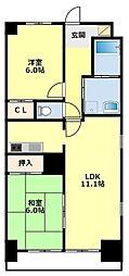 愛知県豊田市東新町3丁目の賃貸マンションの間取り