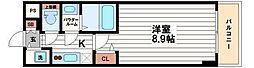 プライムアーバン御堂筋本町[4階]の間取り