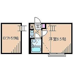 ネオステージ大倉山B棟[2階]の間取り