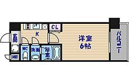 スプランディッド難波[3階]の間取り