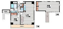 g'court zen(グラムコート・ゼン)[5階]の間取り