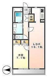 グラン・アベニュー名駅南[3階]の間取り