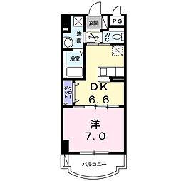 盛キャラバン 6階1DKの間取り