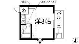 兵庫県西宮市上ケ原六番町の賃貸アパートの間取り
