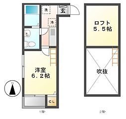 フルハウス六番町[1階]の間取り