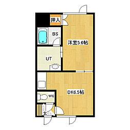 大学ハイツ2[205号室]の間取り