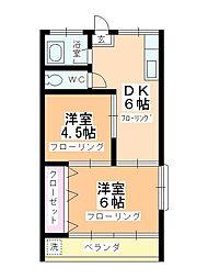 第3石田ビル[205号室]の間取り