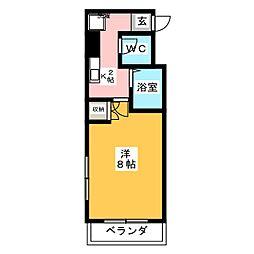 コンフィデンス本山[2階]の間取り