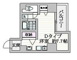 都営浅草線 戸越駅 徒歩1分の賃貸マンション 4階ワンルームの間取り