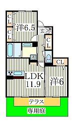 HANABUSA II[1階]の間取り