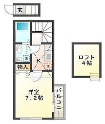 カスティーロ武蔵小金井[2階]の間取り