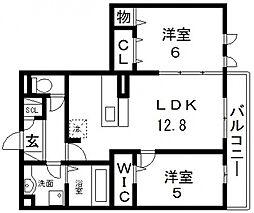 アコルデ西岩田[305号室号室]の間取り