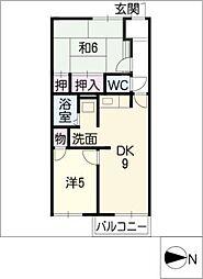 アメニティ亀山 F棟[1階]の間取り