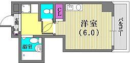 ヒューネット神戸元町[4階]の間取り