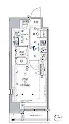 クレイシア芝浦ウォーターフロント 7階1Kの間取り