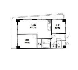 神奈川県横浜市南区高根町2丁目の賃貸マンションの間取り