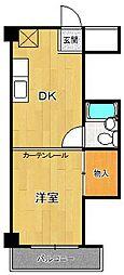 ドミトリー甲子園[4階]の間取り