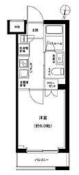 京成押上線 京成立石駅 徒歩9分の賃貸マンション 4階1Kの間取り