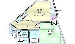池田南桜塚ビルの間取り
