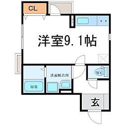ハウスサフラン[2階]の間取り